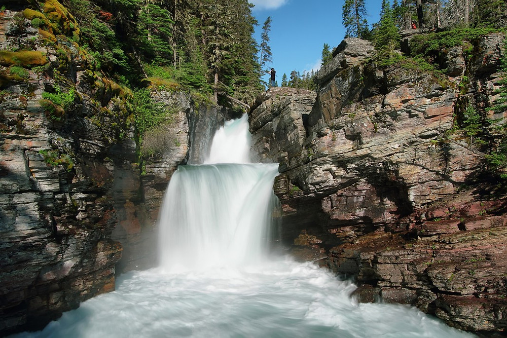 Mary Falls in Glacier National Park
