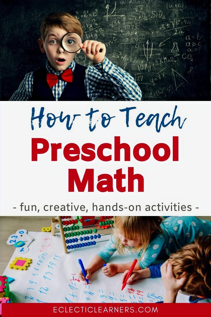 how to teach preschool math