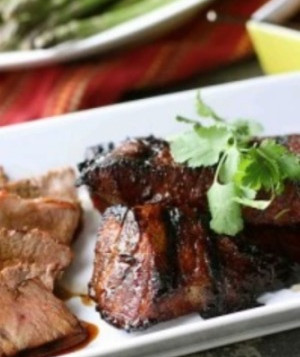 Grilled Bison Coulotte Steak with Molasses Chili Marinade