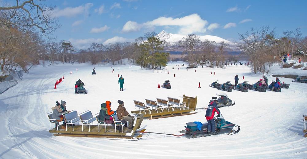 Parque Nacional Onuma Quasi em Hokkaido, Japão, no inverno