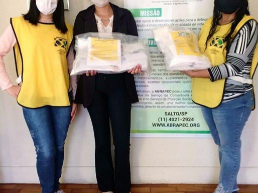Salto – Representantes da Igreja de Jesus  Cristo dos Últimos Dias realizaram doação de máscaras...