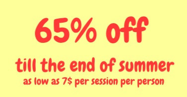 65% off till the end of summer
