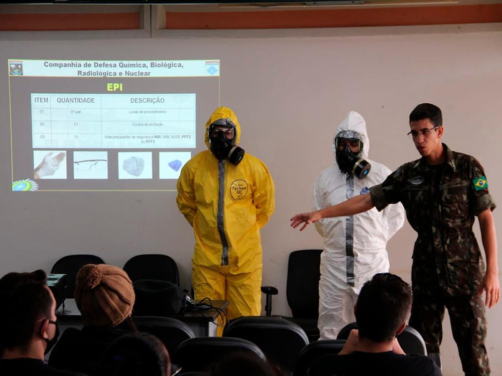 Exército Instrução COVID-19 prevenção Agente Penitenciário Papuda