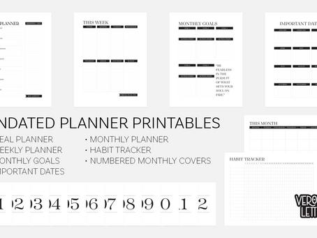 Free Undated Planner Printables