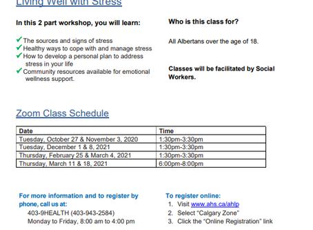 Alberta Health Services Workshops