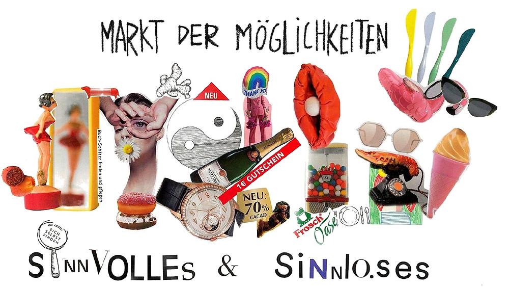 Flyer zum Markt der Möglichkeiten am 12. September 2020 in den Pittlerwerken in Leipzig