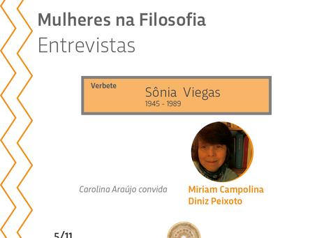 Mulheres na Filosofia entrevistas: verbete sobre Sônia Viegas