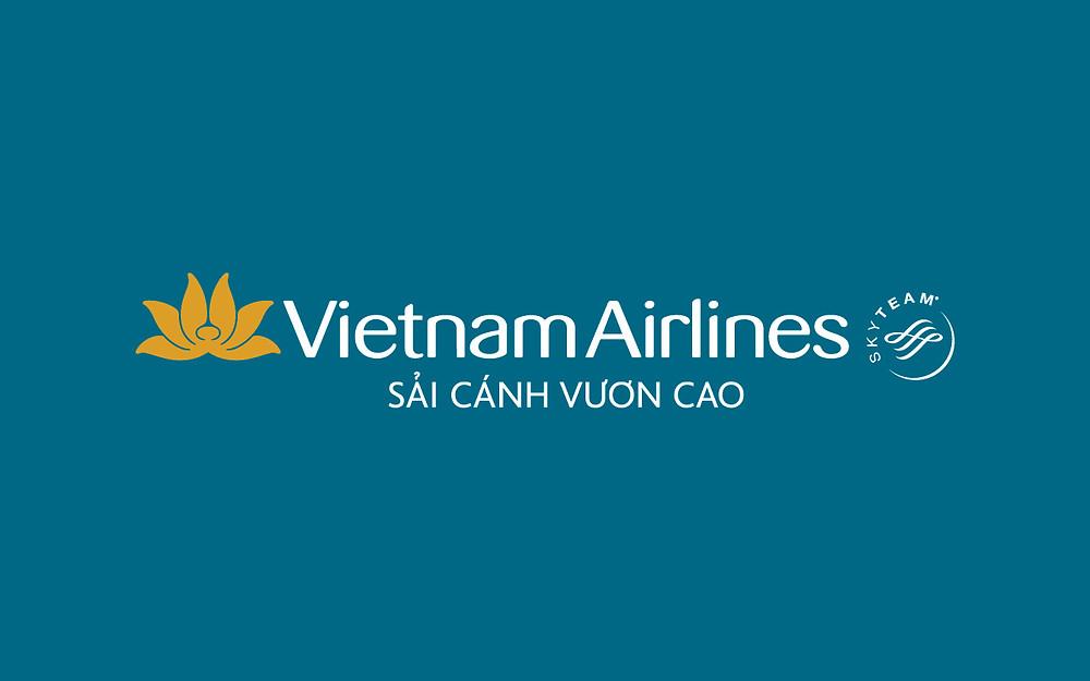 Logo Vietnam Airlines - Bố cục ngang - Âm bản