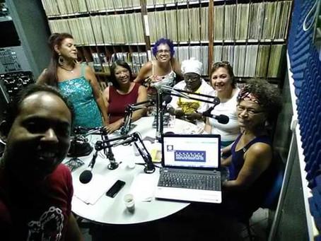 Visita à rádio