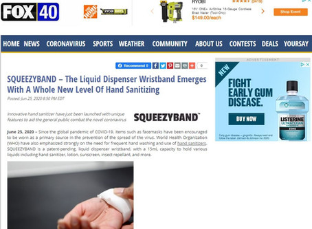 SQUEEZYBAND – The Liquid Dispenser Wristband Emerges With A Whole New Level Of Hand Sanitizing FOX40