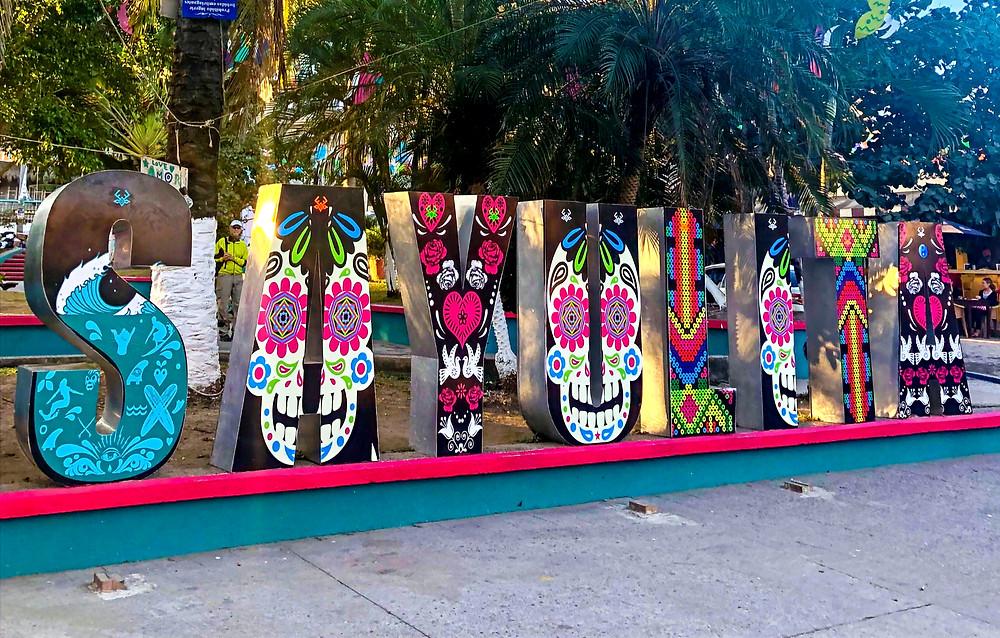 Sayulita Mexico downtown letters tourist travel