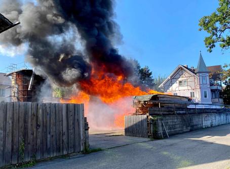 Brand Landwirtschaftliches Anwesen