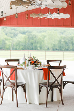 Covered porch at the Red Barn