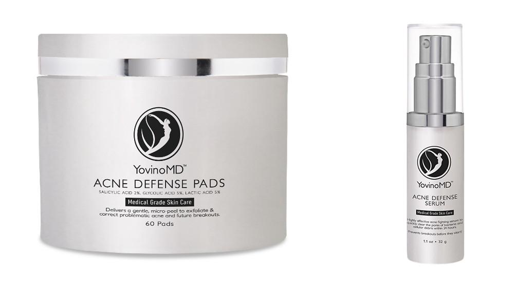 YovinoMD Acne Defense Pads and Acne Defense Serum.