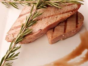 Grilled Teriyaki Tuna Steaks With Honey & Lavender Pink Himalayan Salt