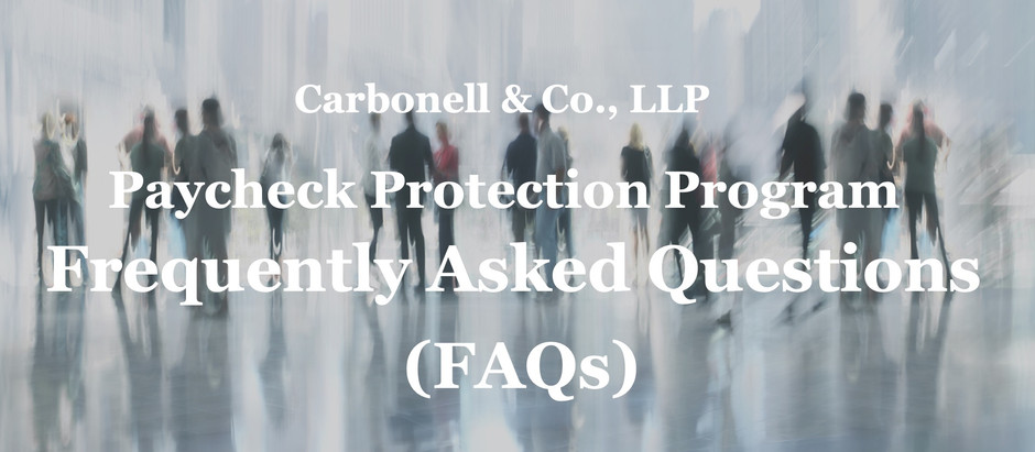 Frequently Asked Questions - Paycheck Protection Program Loans