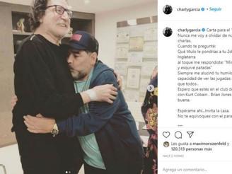 """""""Esperame ahí y no te equivoques con el paraíso"""", le """"pidió"""" Charly García a Maradona"""