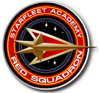 The Starfleet Academy Red Squadron logo.