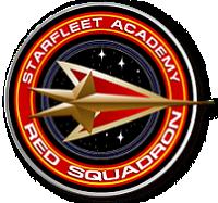 The Starfleet Academy Red Squadron logo.