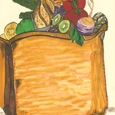 Sarah, Grocery bag
