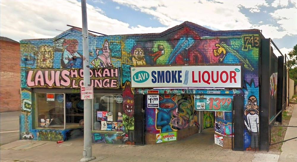 Mural on Smoke and Liquor Shop in Reno Nevada