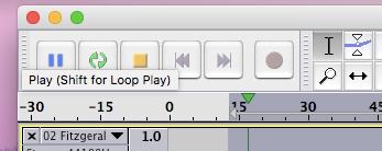 Loop play in Audacity.