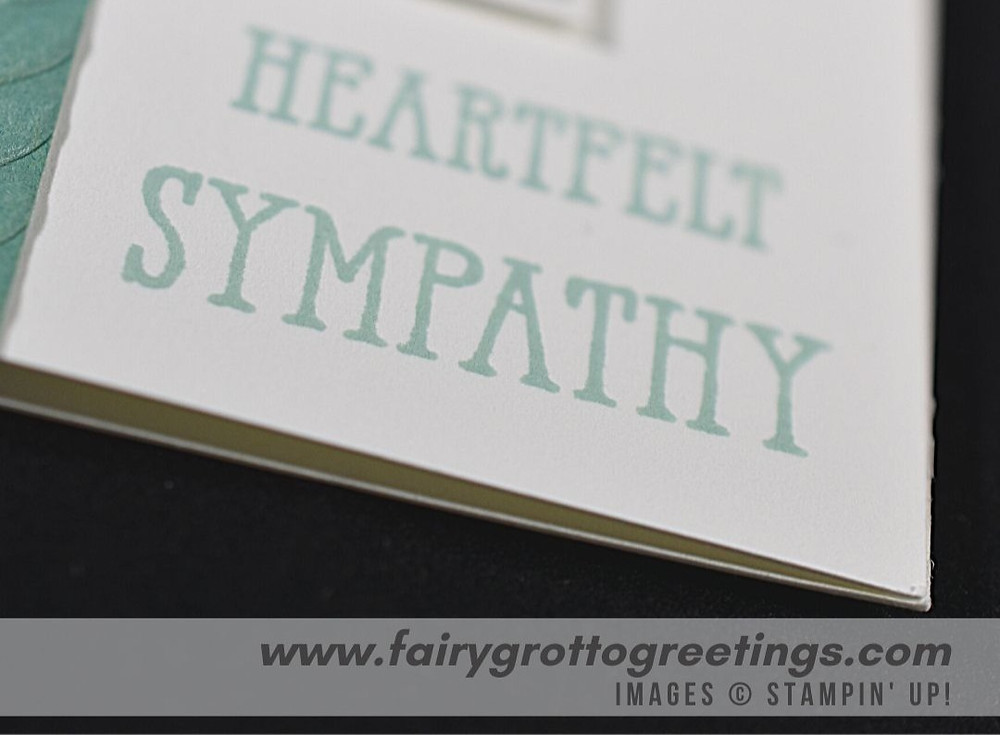 Stampin' Up! Forever Fern bundle in Just Jade and Pool Party Heartfelt Sympathy card
