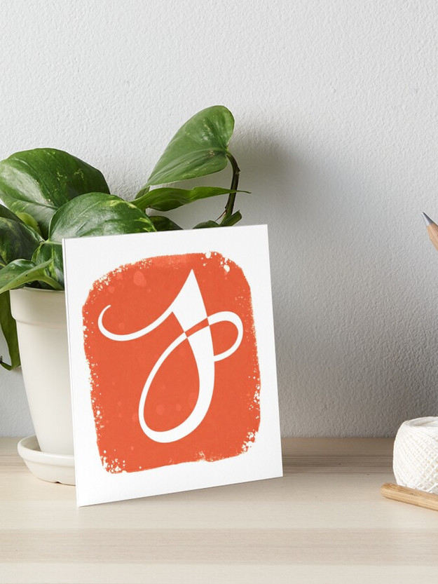 Jenna German Logo Art Board Print