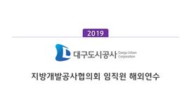 [지방개발공사협의회] 2019 지역개발공사 협의회 국외연수