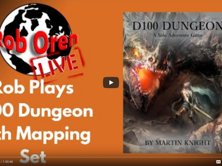 Rob Plays D100 Dungeon With Mapping Game