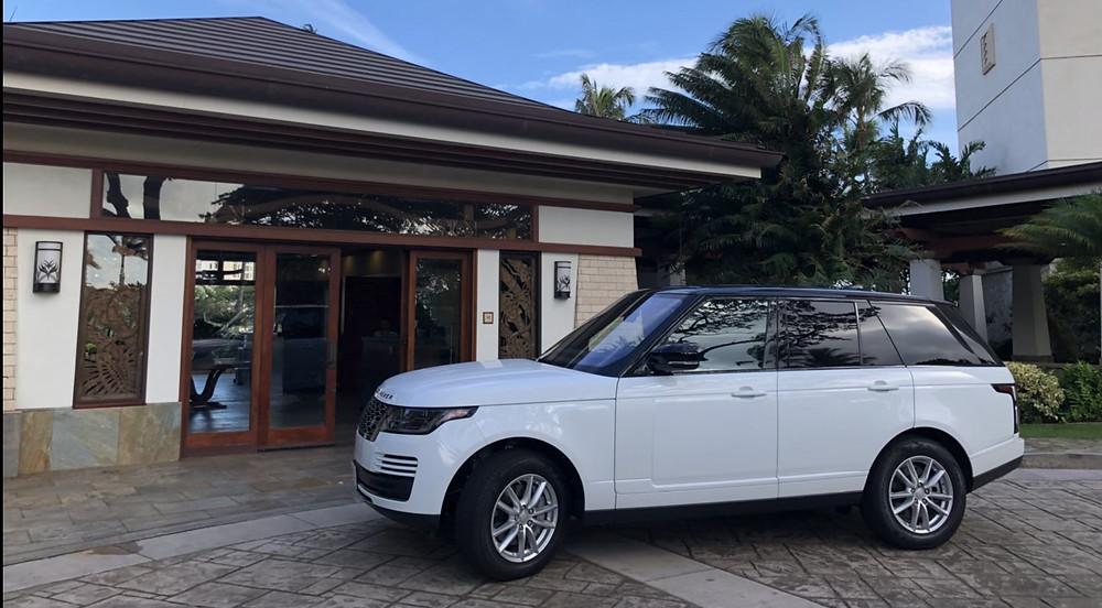 Beach Villas Ko Olina at Oahu Circular Drive Range Rover