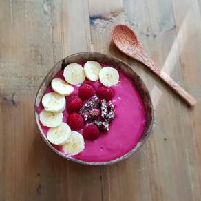 Pink Granola Raspberries Bowl