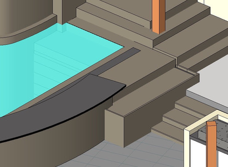 Evolution of the design throughout occupancy: terrace turning into the pool
