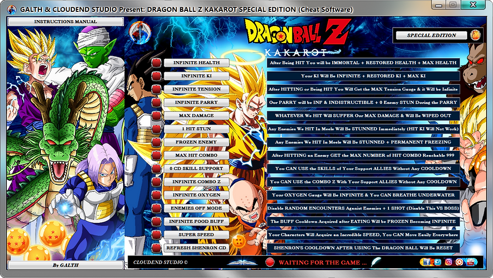 cloudend studio, Dragon Ball Z Kakarot, DBZK, Dragon Ball z kakarot cheats, DBZK Trainer, DBZK codes, DBZK Tricks, Dragon Ball Z Kakarot Trainer, Dragon Ball Z Kakarot Mod, DBZ Kakarot Cheats, Dragon Ball Z Kakarot Gameplay, cheats trainer, super cheats, cheats, trainer, code, mod, tips, steam, pc, cheat engine, cheat table, save editor, free key, tool, game, dlc, 100%, fearless revolution, wemod, fling trainer, mega dev, mega trainer, rpg, achievements, cheat happens, 作弊, tricher, tricks, engaños, betrügen, trucchi, news, ps4, xbox, Youtube Game, hack, glitch, walkthrough, 1.03,