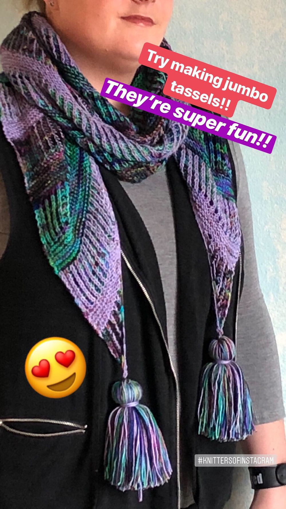 Step by Step Tassels Tutorial Intergalactic Wrap
