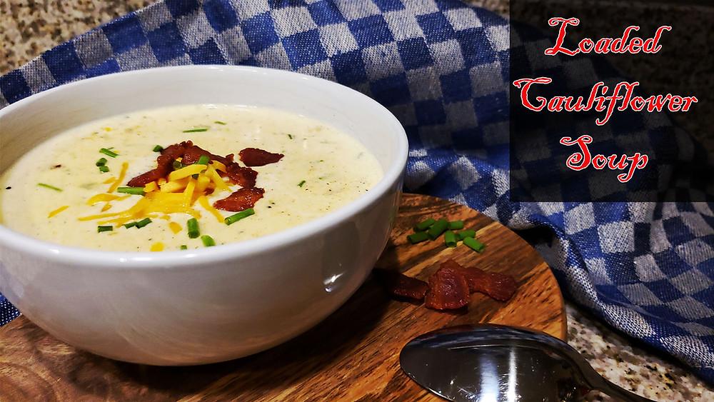 Keto Loaded Cauliflower Soup Recipe