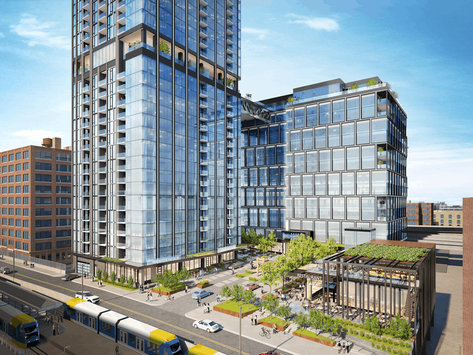 Hines pitching North Loop complex with 36-story apartment tower, 14-story office tower