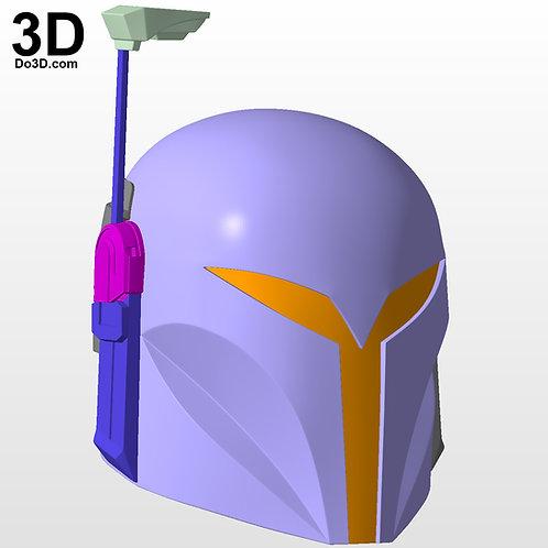 Bo-Katan Kryze Helmet Star Wars Mandalorian | 3D Printable Model #BK78