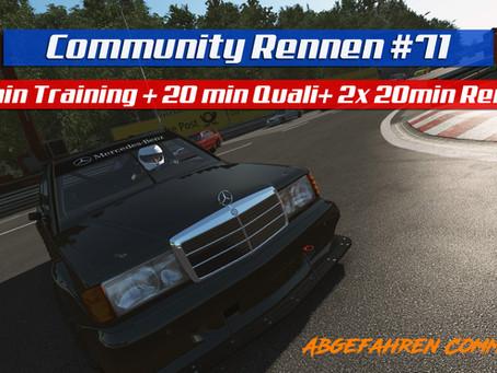 rF2-CR 71 | Mercedes-Benz 190E @ Norisring