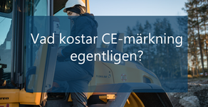 Vad kostar CE-märkning egentligen?