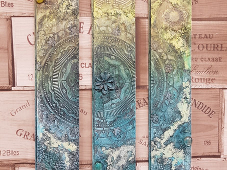 Mindfulness Mandala Triptych by Shell North