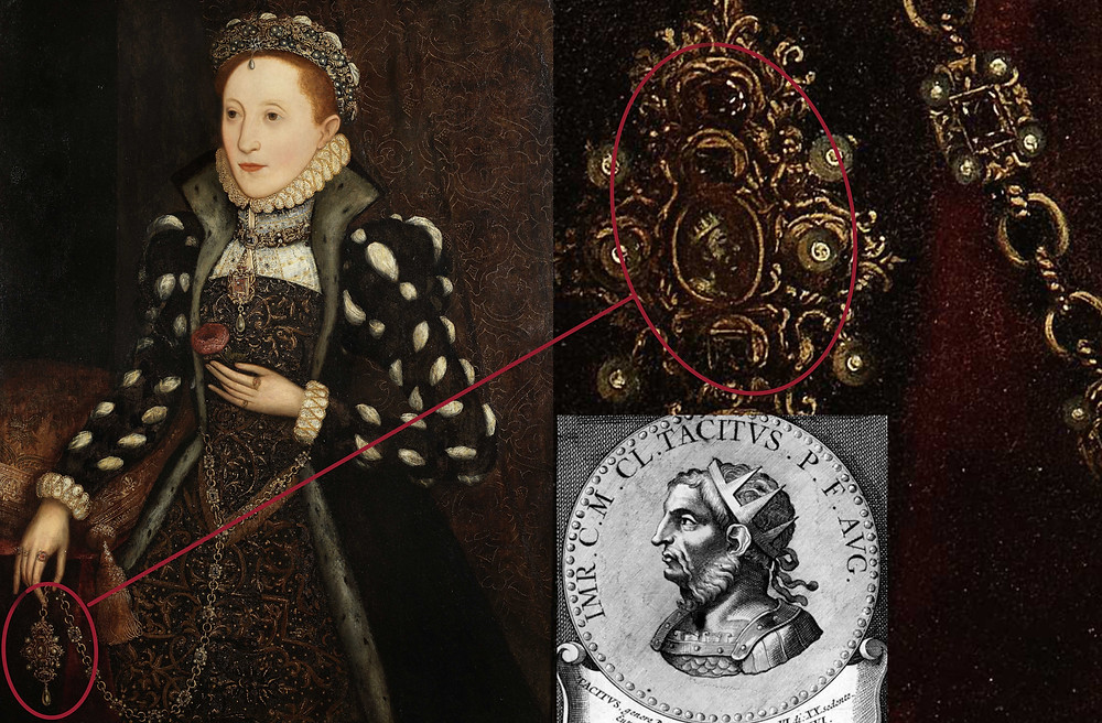 Diagram of Queen Elizabeth I and her medallion