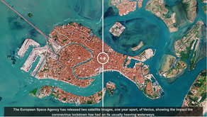 Images of Venice from space show how coronavirus has changed the city's iconic canals