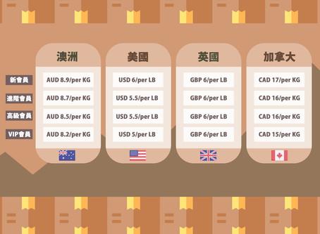 澳洲集運優惠永久延長!集運運費價格表