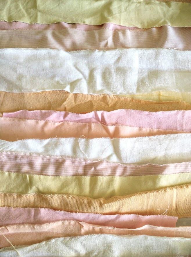 Pastel fabric strips