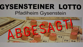 Absage Lotto 2020 im Pfadiheim Gysenstein