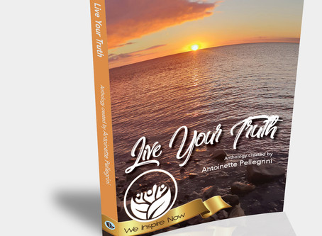 The first shot of the book 'Live your Truth' the first series of Anthology -We Inspire Now.