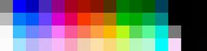 NES 64 colour palette