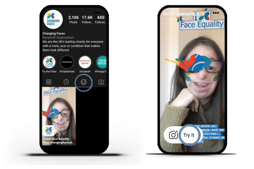 Instagram AR Filter for a Charity
