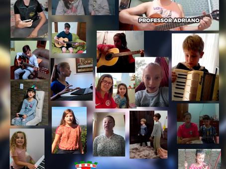 Em Brochier, aulas de música continuam online durante pandemia